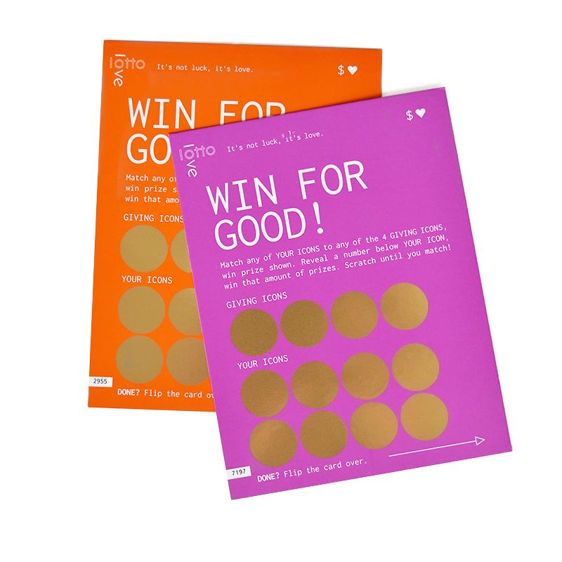 LottoLove Win for Good cards for Mother's Day - scratch to reveal which charities your purchase helped to support | Mother's Day gifts that give back