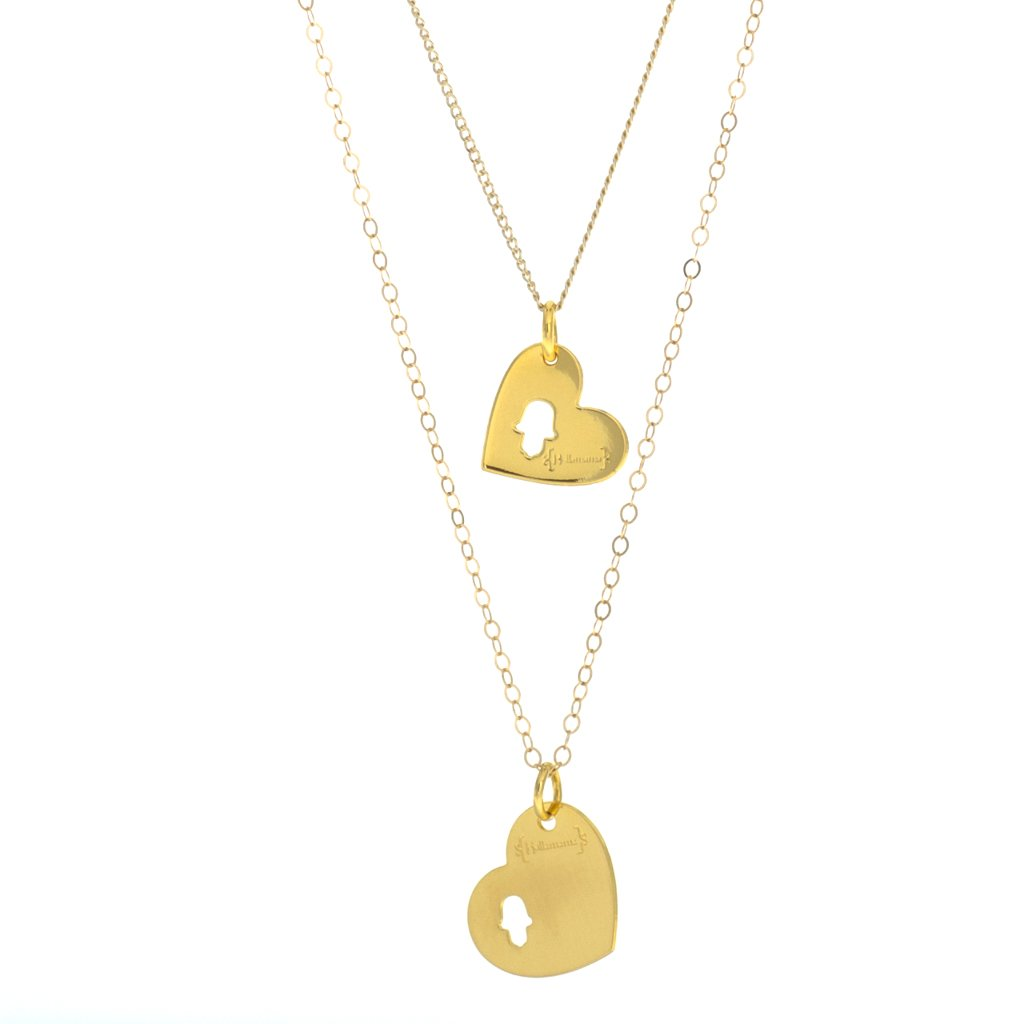 Mother-daughter necklace sets: Hamsa hand mother-daughter necklace set| Holla Mama