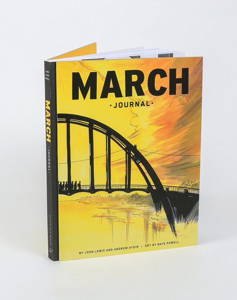 The March Journal, based on the graphic novel trilogy by Congressman John Lewis, with Andrew Aydin and Nate Powell