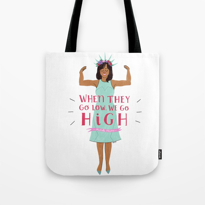 Feminist Mother's Day gift: Michelle Obama illustration on totes, tees, phone cases and more by Tyler Feder