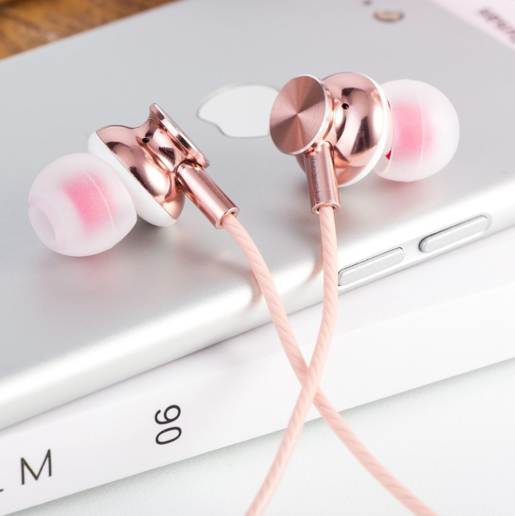 Mijaer Earbuds in Rose Gold   Cool, affordable Mother's Day gifts under $15