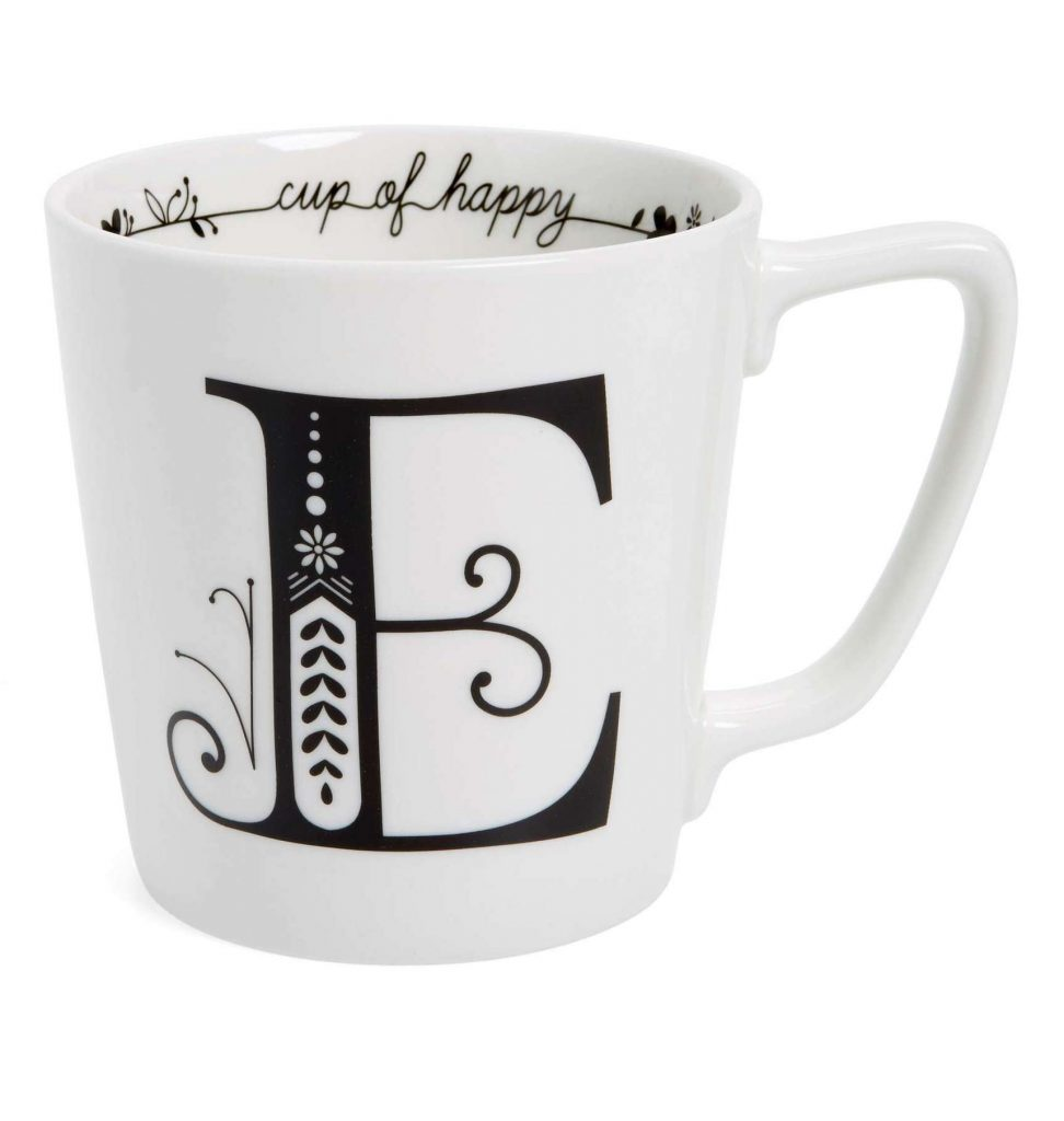 Monogrammed Mug | Cool affordable Mother's Day gifts under $15