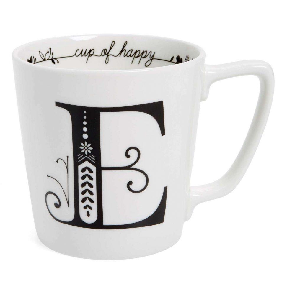 Monogrammed Mug   Cool affordable Mother's Day gifts under $15