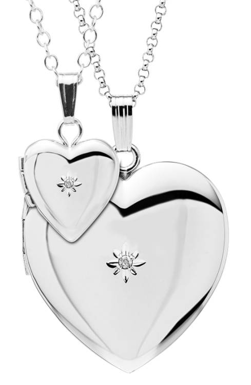 Mother-daughter necklace sets: Matching mother-daughter locket set set | Nordstrom