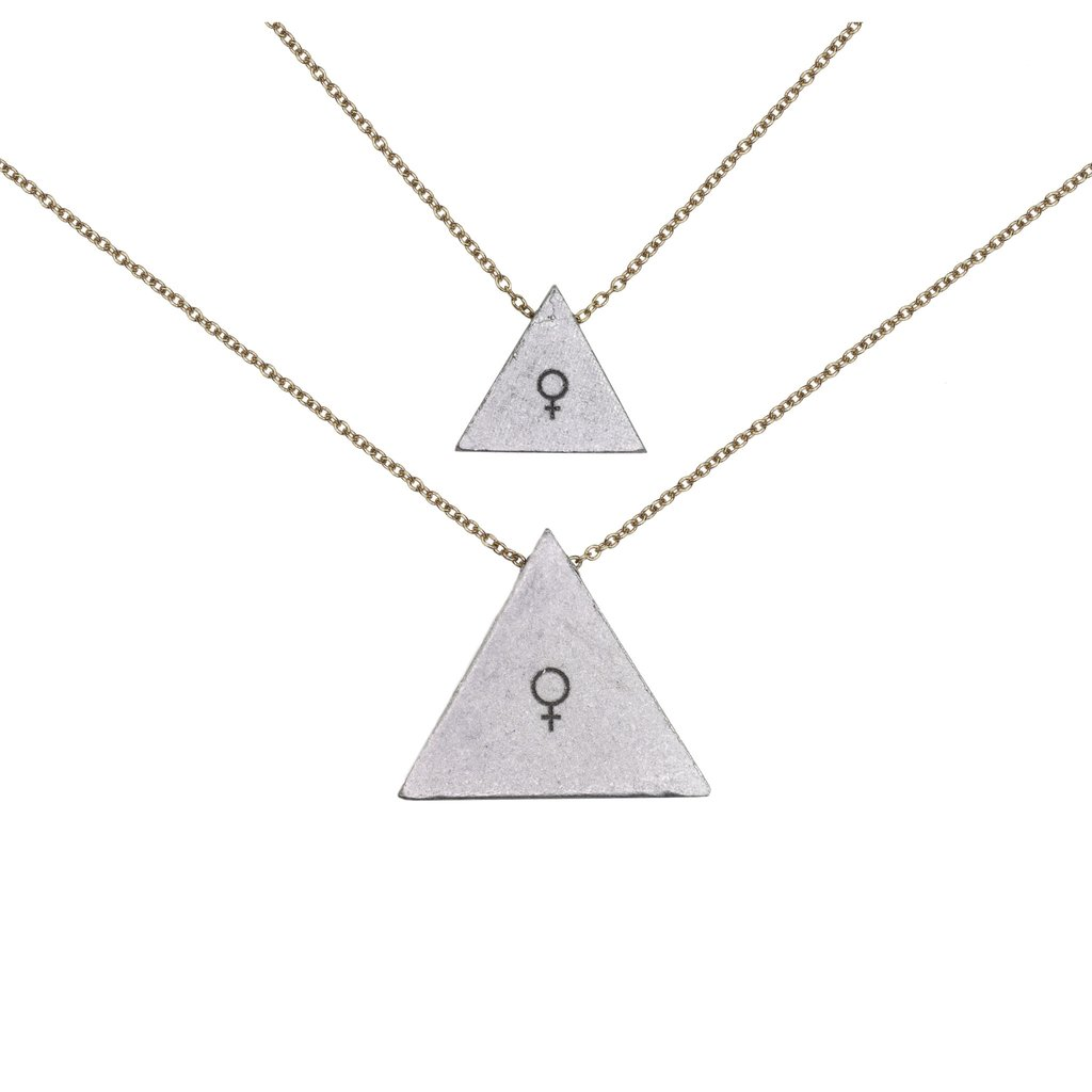 "Mother-daughter necklace sets: Mother-daughter ""woman"" necklace set 