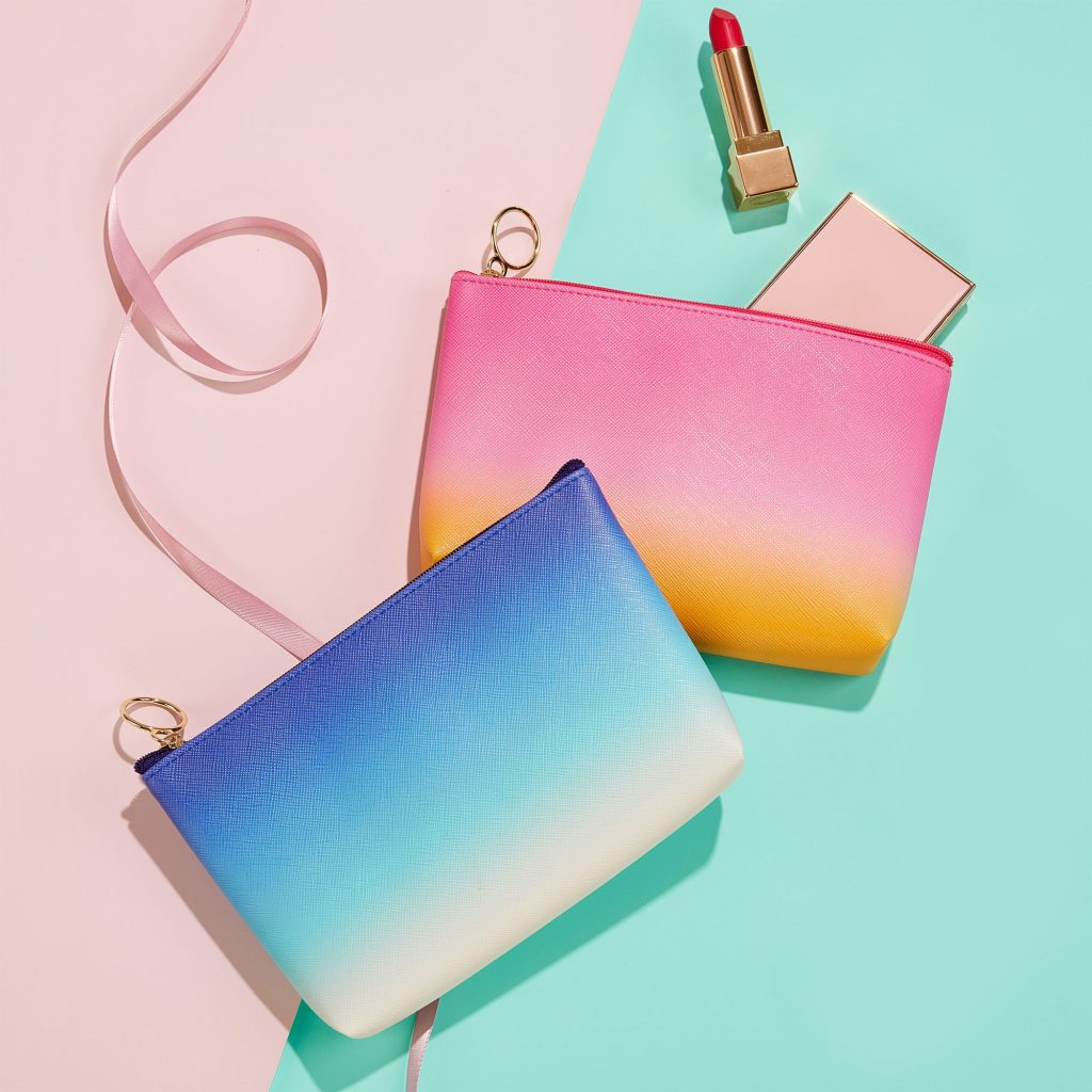 Ombre pouches: Cool Mother's Day gift ideas for stepmothers and mothers-in-law