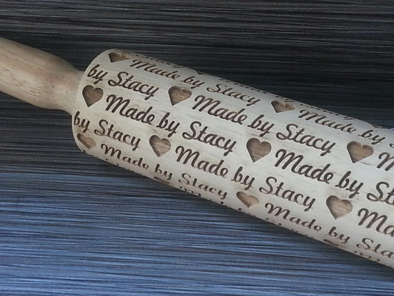 Personalized Mother's Day gifts: Personalized Rolling Pin | Sweet Rolling Pins