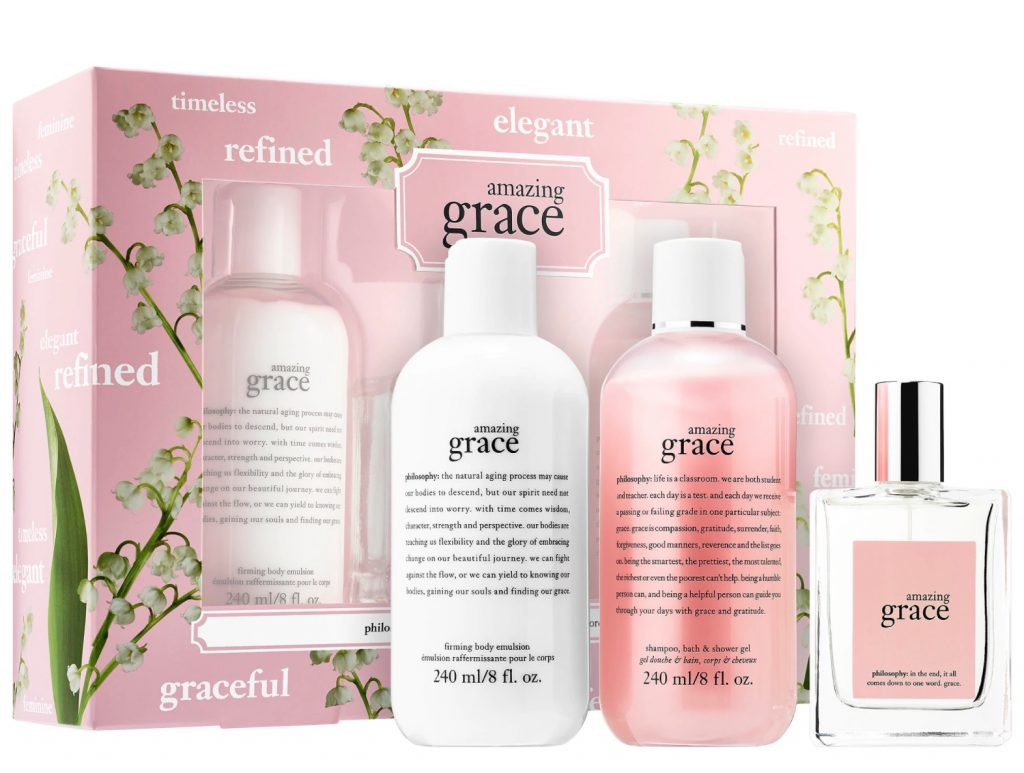 Amazing Mother's Day gifts for stepmothers and mothers-in-law: Philosophy Amazing Grace gift set