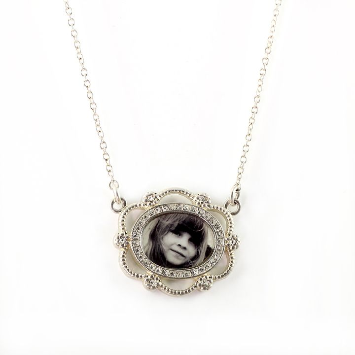Personalized Mother's Day gifts: Personalized Diamond Photo Necklace | Planet Jill