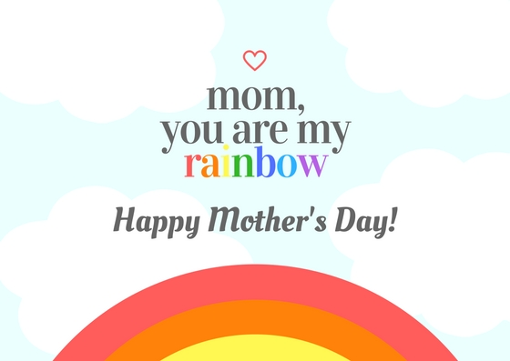 Free printable folded Mother's Day card: You are my rainbow | Cool Mom Picks