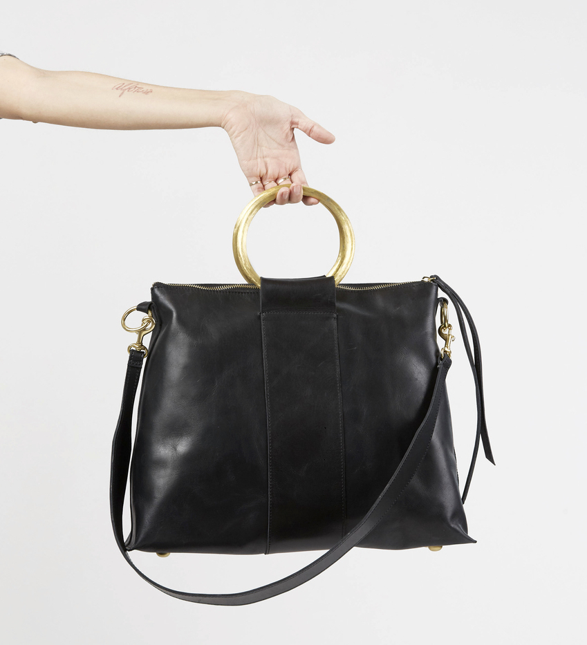 Mother's Day gifts that give back: Raven & Lilly Ethiopian leather handcrafted convertible ring bag/crossbody