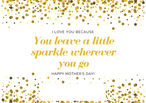 Free printable sparkle Mother's Day card | Cool Mom Picks