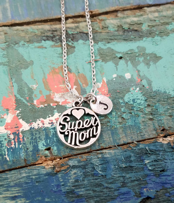 Super Mom Necklace from Simply Charmed by Angel   Cool affordable Mother's Day gifts under $15