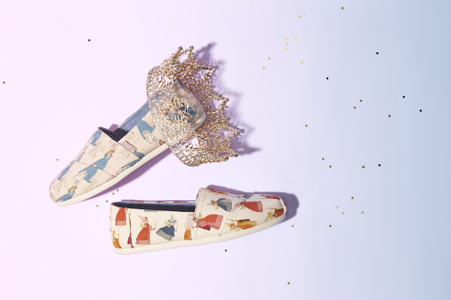 The new TOMS x Disney shoe collection is what happens when you think beyond glass slippers.