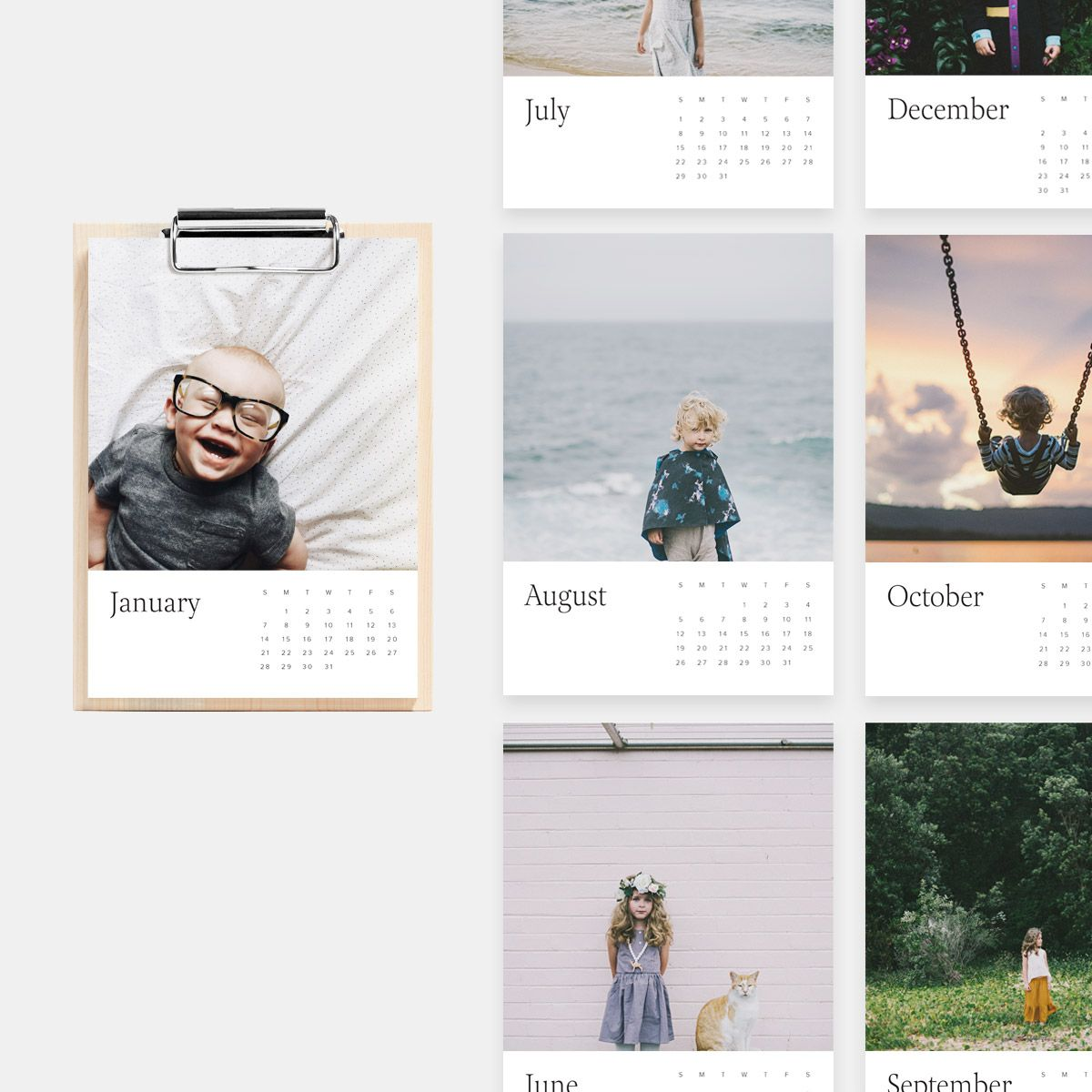 Personalized Mother's Day gifts: Personalized Wood Calendar | Artifact Uprising