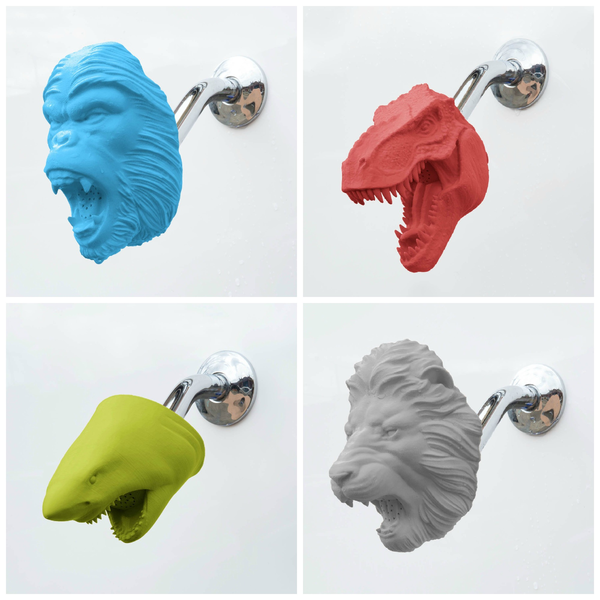 Get wild with Zooheads shower heads! They may actually get your kids excited to take a shower for a change.