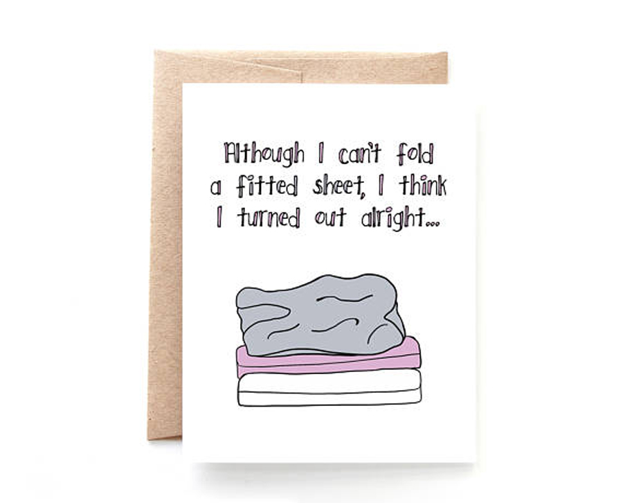 Funny Mother's Day Cards: Fitted Sheet Card by Yellow Daisy Paper Co