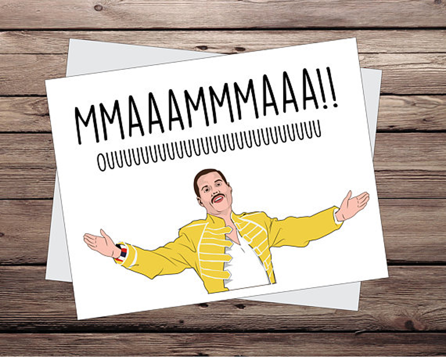 Funny Mother's Day Cards: Freddie Mercury Card by That Cool Sign