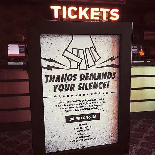 Alamo Drafthouse's Avengers Infinity War spoiler alert: Awesome!