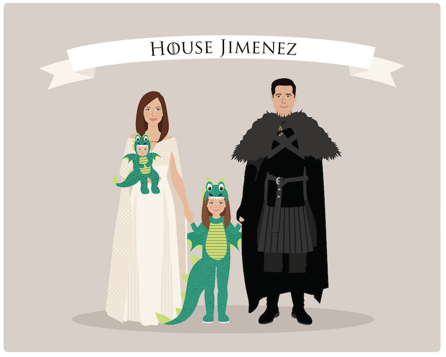 Best personalized Father's Day gifts: Personalized Game of Thrones Family Portrait by Henry James Paper Goods