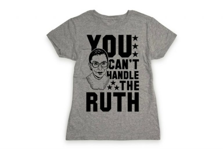 10 of the most awesome RBG t-shirts to celebrate the force that is Justice Ginsburg.