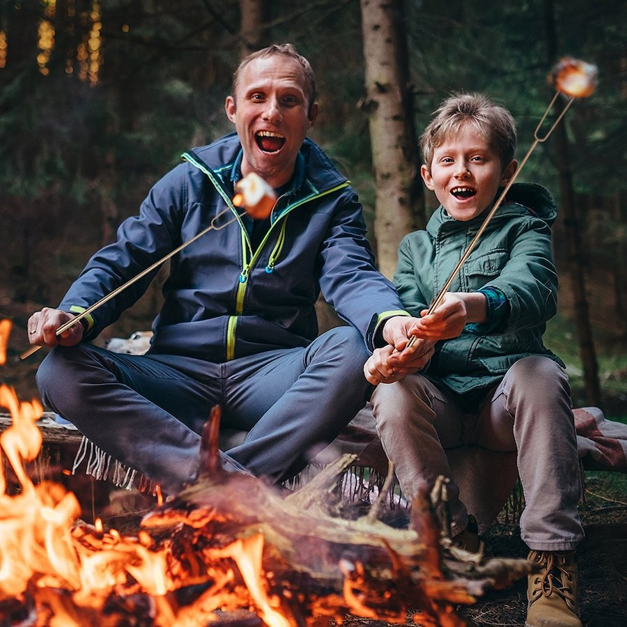 8 affordable camping essentials for families: skewers for grilling over the campfire