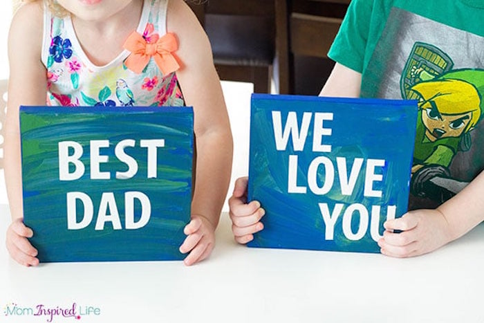Creative DIY Father's Day gifts that kids can make: DIY Father's Day Finger Paintings by Fun Learning for Kids