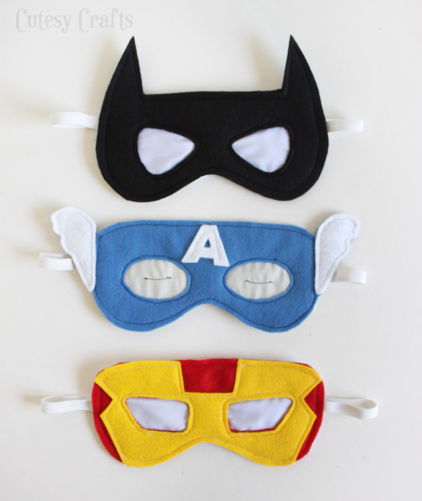 Creative DIY Father's Day gifts that kids can make: DIY Superhero Sleep Masks by Cutesy Crafts