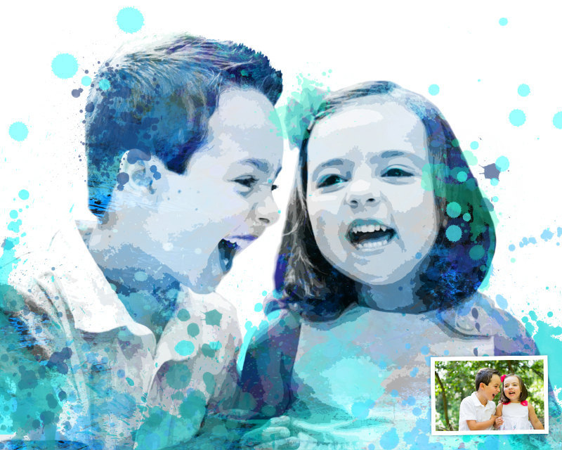 Creative photo gifts for Father's Day: Custom Watercolor Photo Gift | Delphi Images