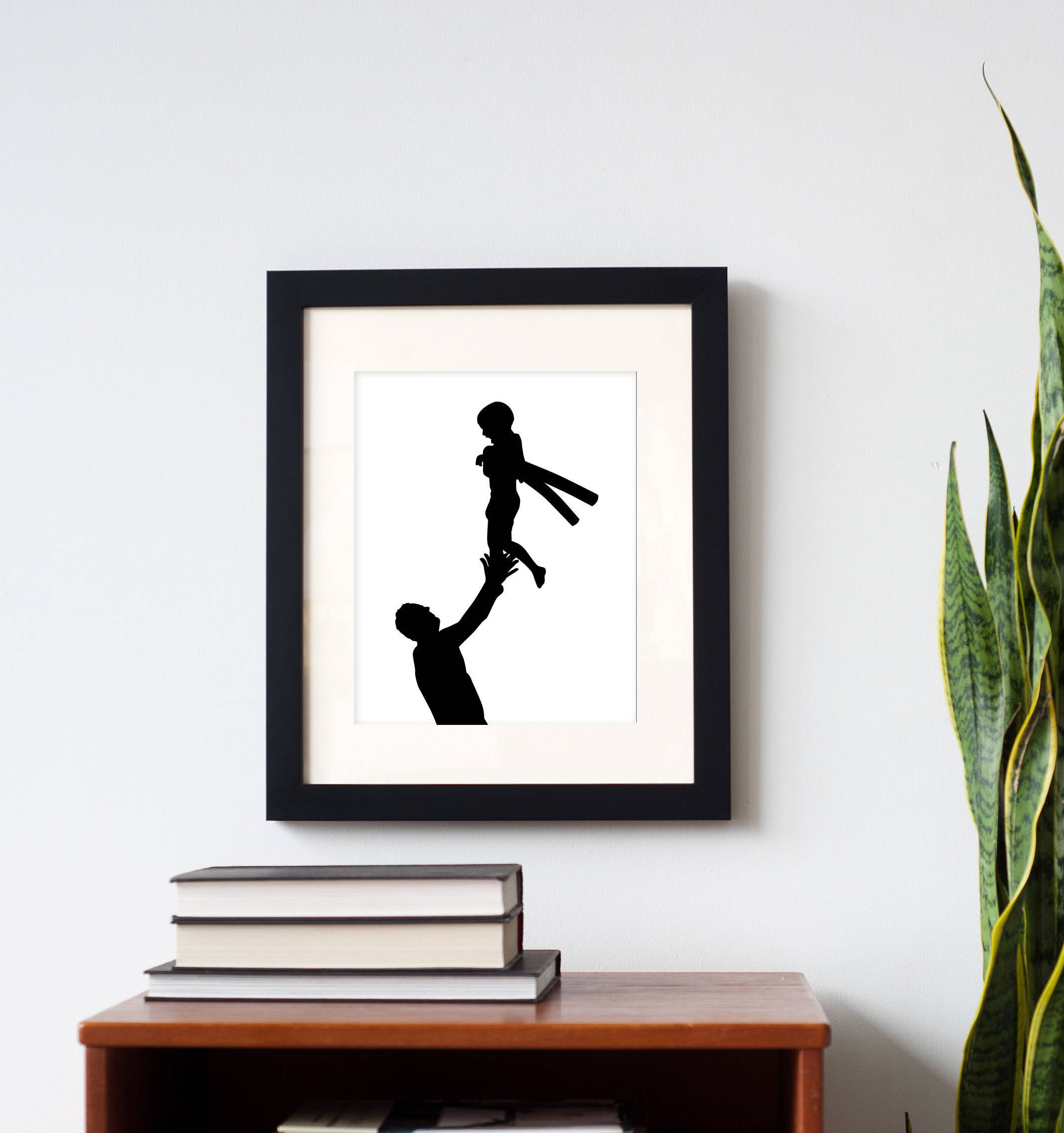 Creative photo gifts for Father's Day: Dad and Child Silhouette Print | Simply Silhouettes