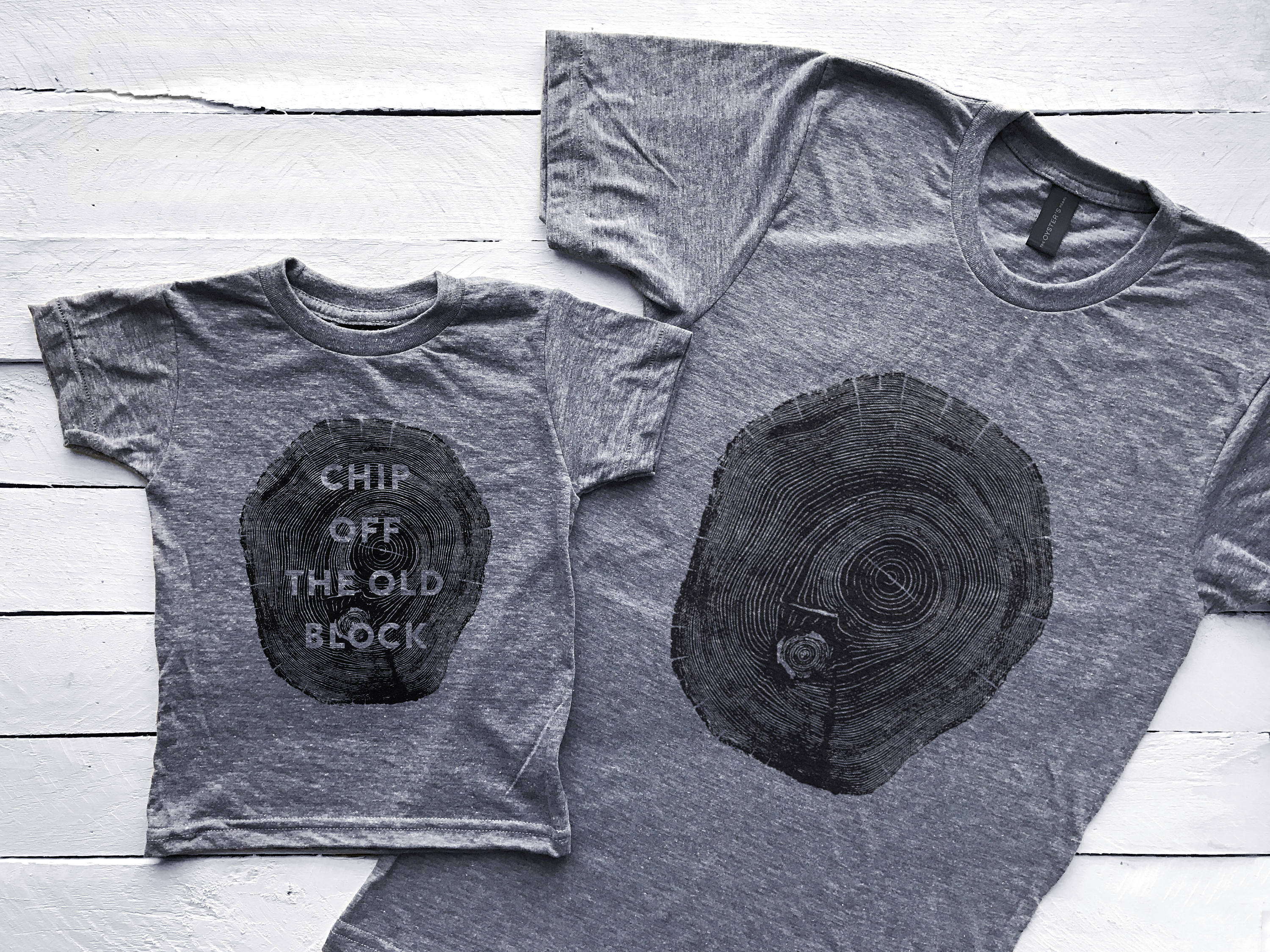 "Daddy and me tees: Daddy and me ""chip off the old block"" tees 