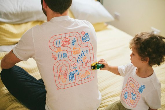 Daddy and me tees: Daddy and me board game tees | BKY kid
