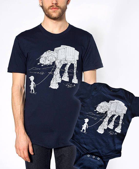 Daddy and me tees: Daddy and me Star Wars tees | Engram Clothing