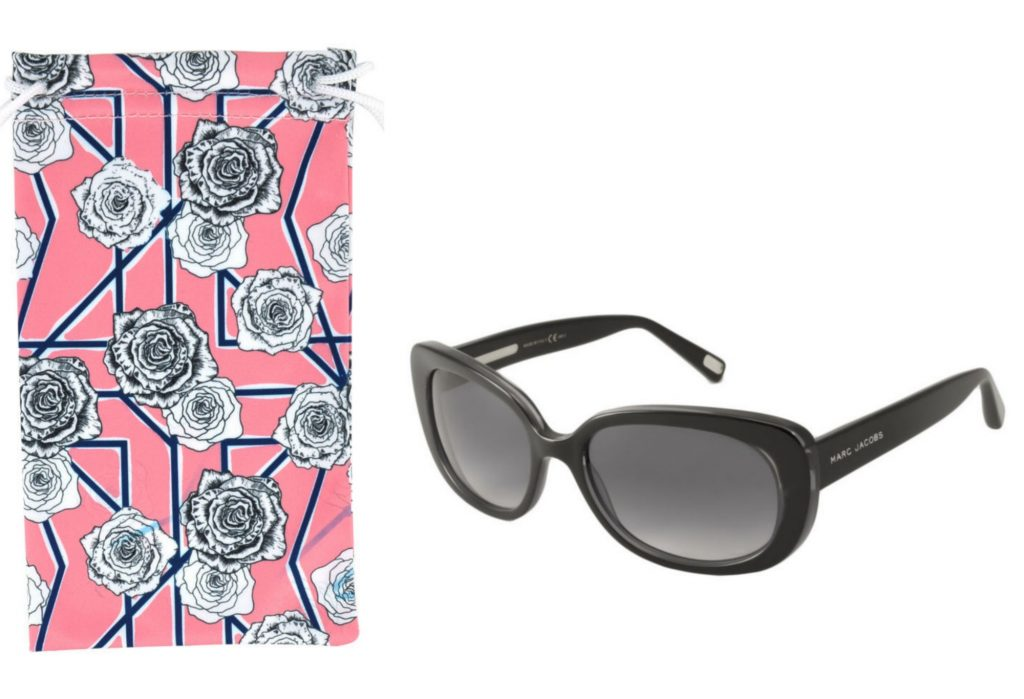 On trend for Mother's Day: Designer sunglasses from Marc Jacobs + a floral microfiber glasses case