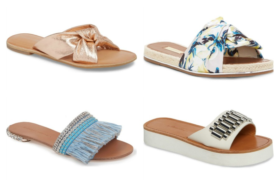 Stylish embellished slide sandals for summer, now up to 40% off