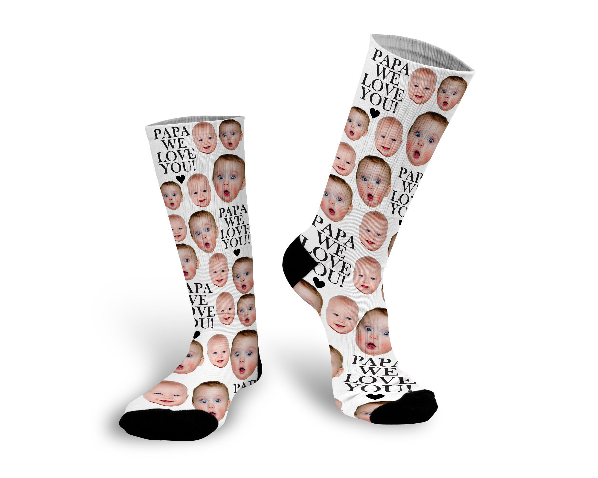 Creative photo gifts for Father's Day: Custom Photo Socks | Stamp Out Online