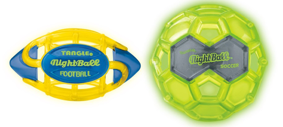 Fun summer toys: NightBall Soccer and Footballs by Tangle Creations | Sponsored