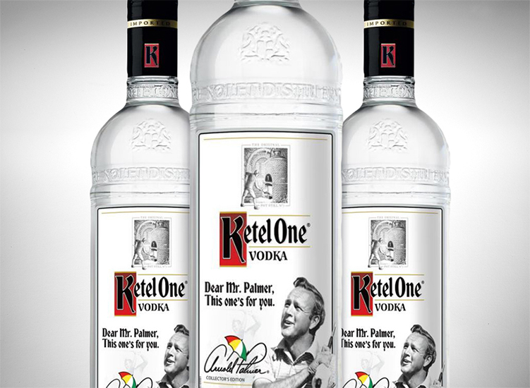 Ketel One Limited Edition Arnold Palmer Collector's Edition Bottle: Creative Father's Day gifts for the man who has everything