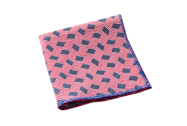 Land of the Brave handmade pocket square by Mo's Bos | Fantastic Father's Day gifts under $20