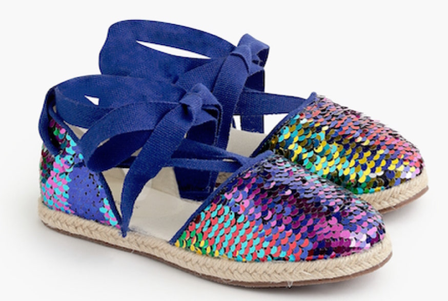 Memorial Day sales: Girls' Reversible Sequin Espadrilles by J.Crew