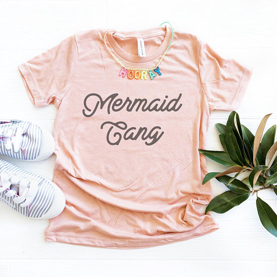 Mermaid Gang t-shirt : Cool mermaid gifts for kids | Oh Hello Sparkle on Etsy
