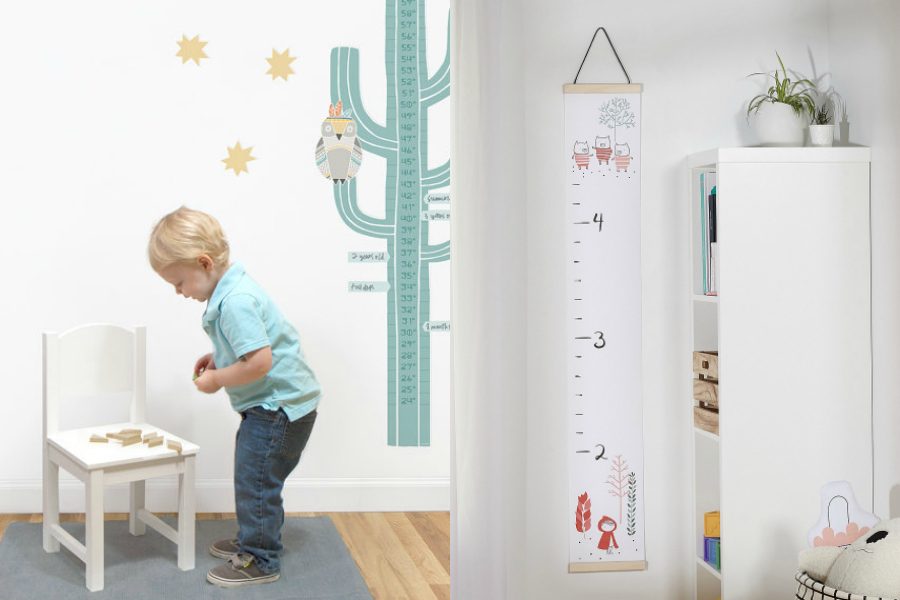 11 cool modern growth charts for kids who can't stop, won't stop growing