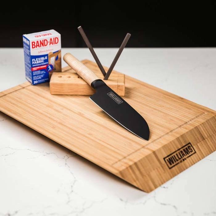 The best personalized Father's Day gifts: A chef's knife pack including knuckle bandages!