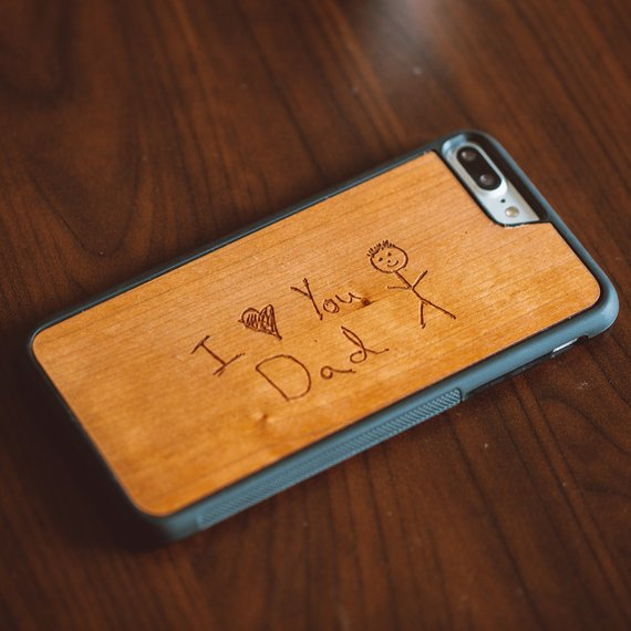 Best personalized Father's Day gifts: Custom Drawing Phone Case by Tmbr