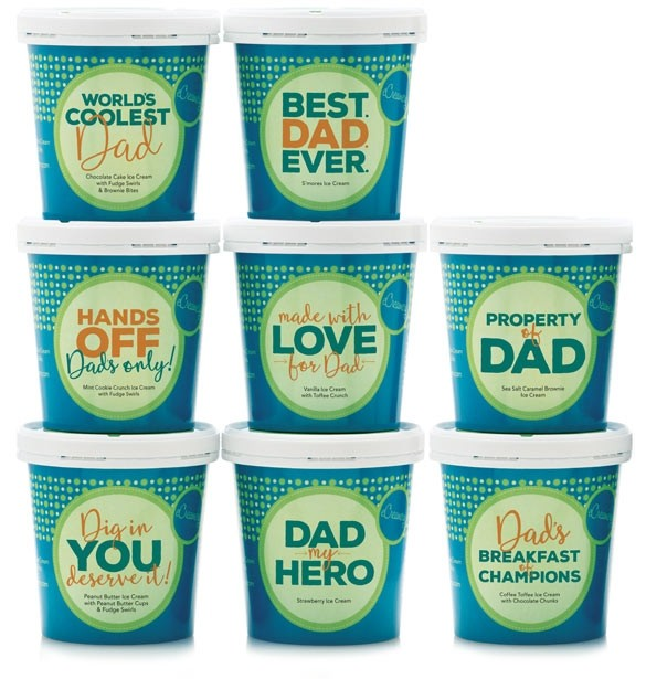 Best personalized Father's Day gifts: Father's Day Ice Cream Assortments by eCreamery
