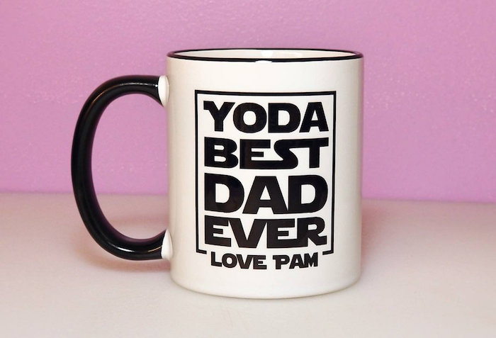 Best personalized Father's Day gifts: Personalized Father's Day Yoda Mug by Jim and Pam Creations