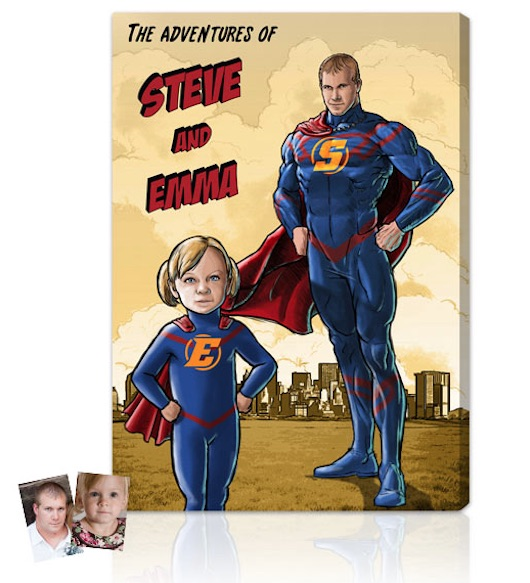 Best personalized Father's Day gifts: Custom Comic Book Portrait by The Comics Factory