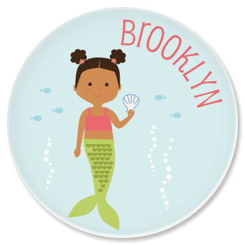 Creative personalized gifts: Custom  mermaid plate from Sarah & Abraham