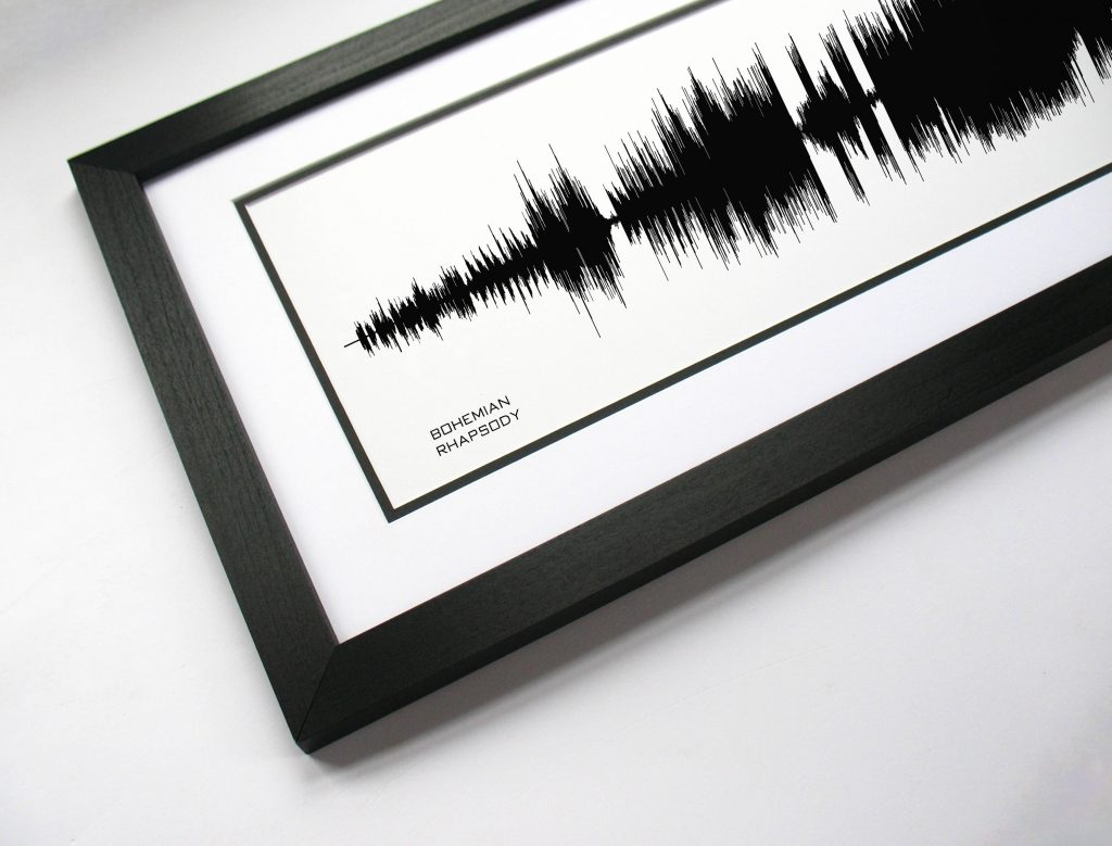 The best personalized Father's Day gifts: Custom soundwave poster from his favorite song. So cool!