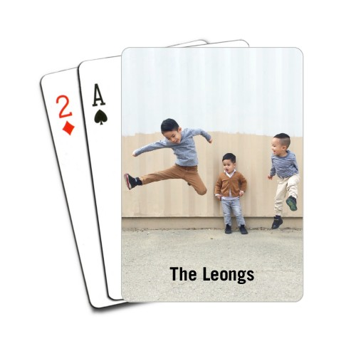 Creative photo gifts for Father's Day: Custom Photo Playing Cards | Shutterfly